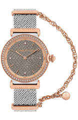 Cerruti CRM29703 Corniglia Crystals Two Tone Stainless Steel Bracelet - Goldy Jewelry Store