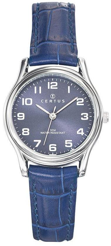 Certus 644376 Blue Leather Strap - Goldy Jewelry