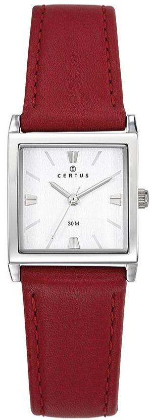 Certus 644439 Red Leather Strap - Goldy Jewelry