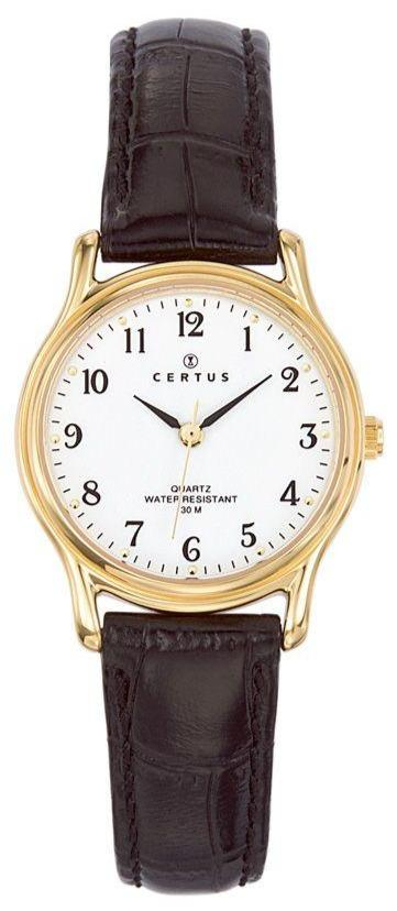 Certus 646240 Brown Leather Strap - Goldy Jewelry