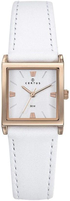 Certus 646250 White Leather Strap - Goldy Jewelry