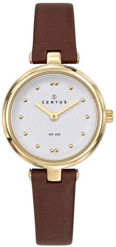 Certus 646259 Brown Leather Strap - Goldy Jewelry
