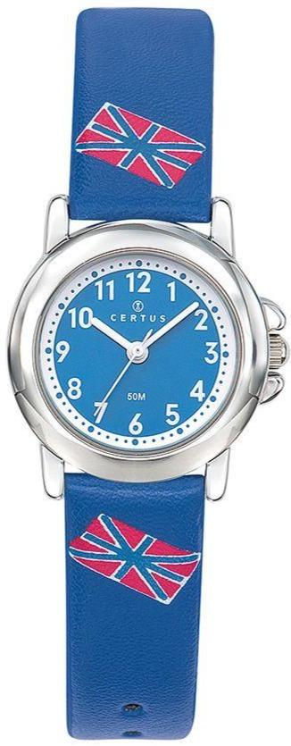 Certus 647612 Blue Leather Strap - Goldy Jewelry
