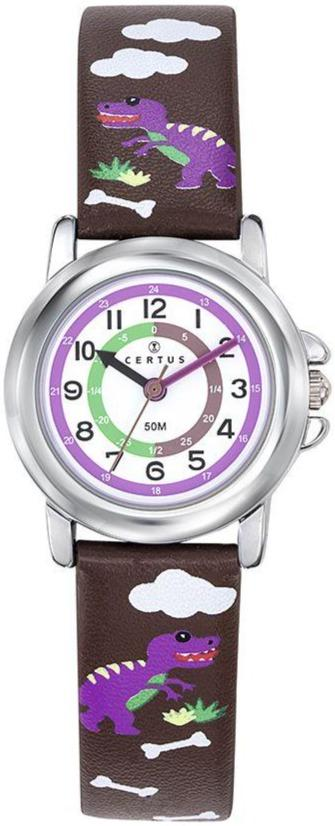 Certus 647630 Dark Purple Leather Strap - Κοσμηματοπωλείο Goldy