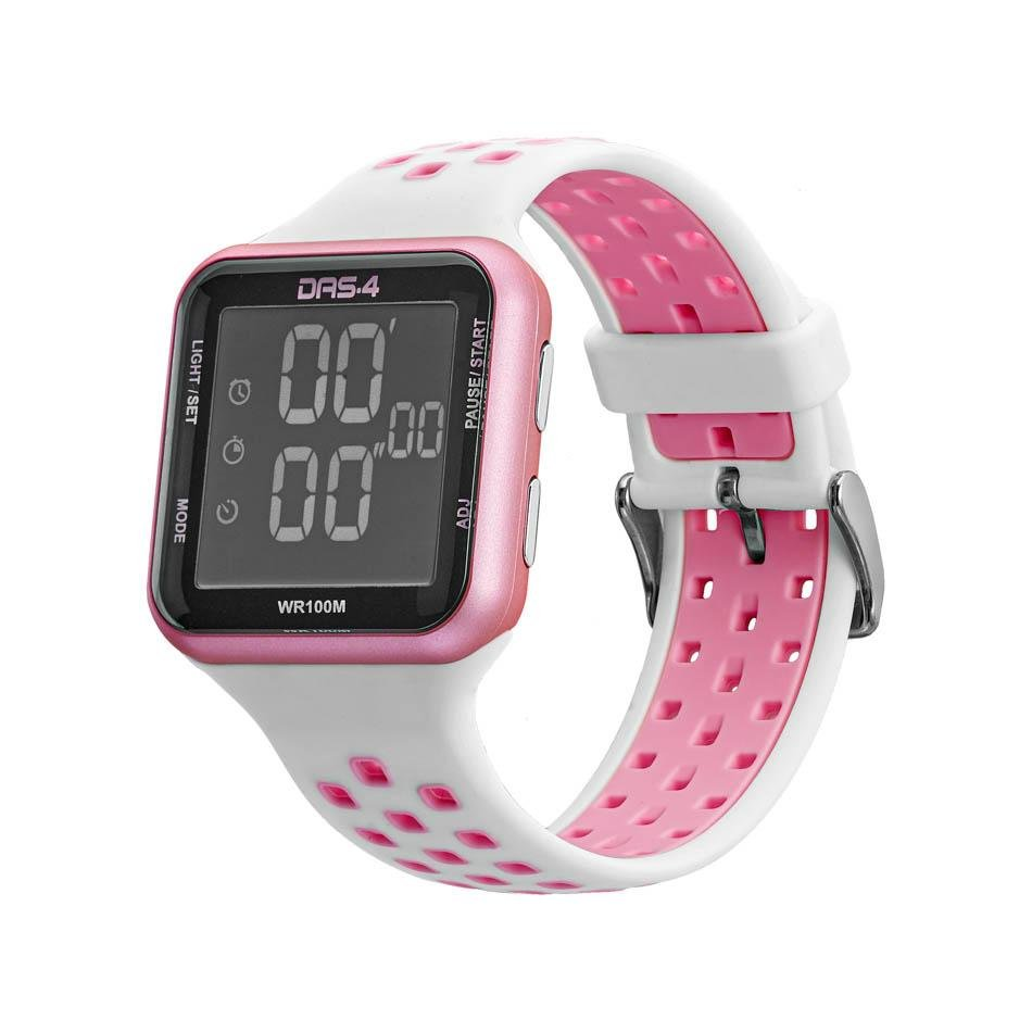 DAS.4 40016 Watch Pink White LCD LD18 - Goldy Jewelry Store