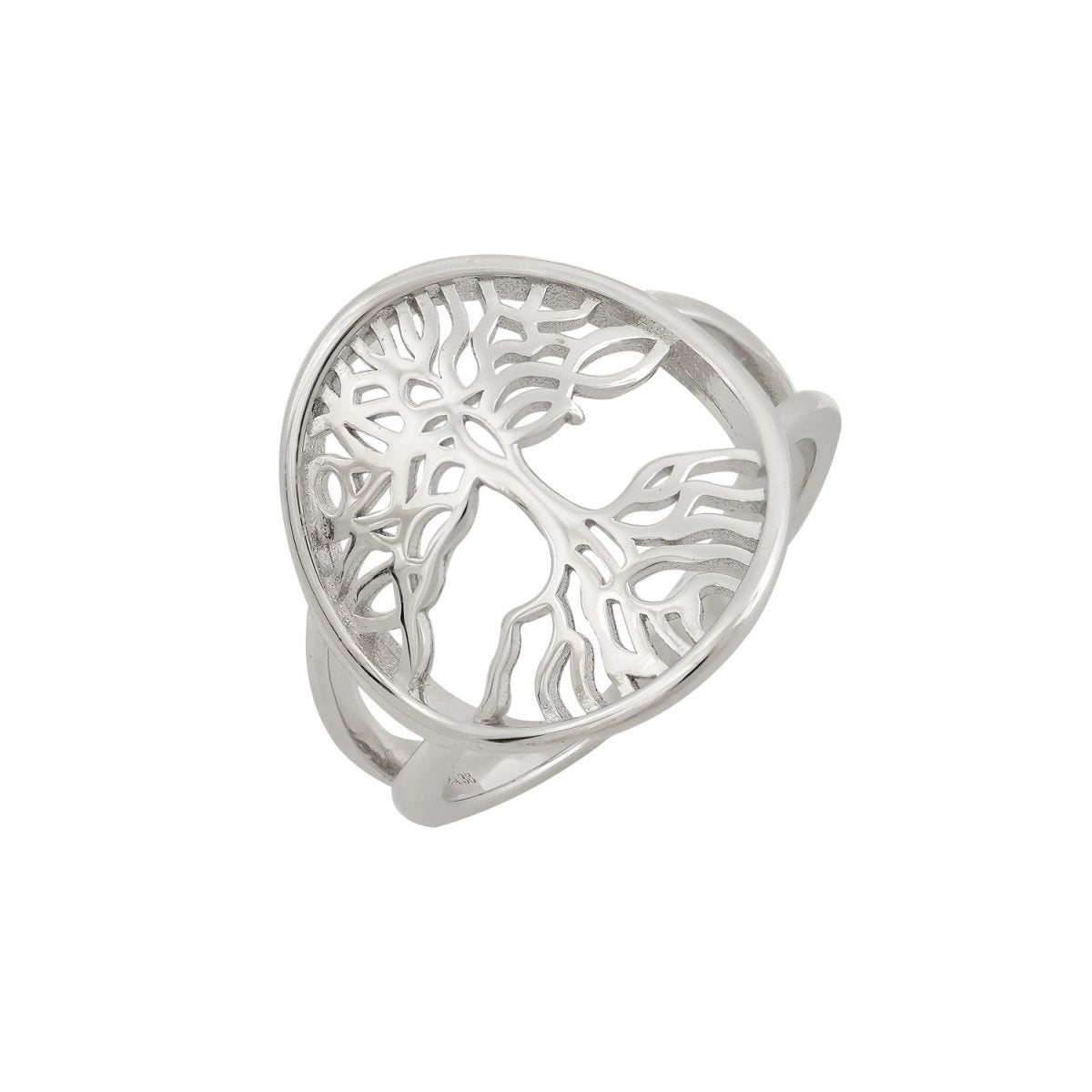 Ring Tree of Life RS3426 Platinum Plating - Goldy Jewelry Store