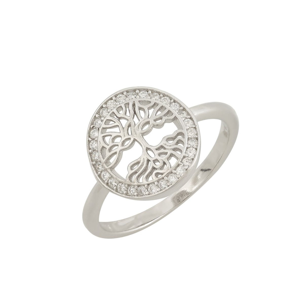Ring Tree of Life RS3577 Platinum Plating - Goldy Jewelry Store