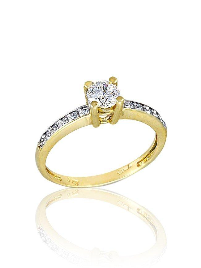 Single Ring RN11035 Gold K9 - Goldy Jewelry Store