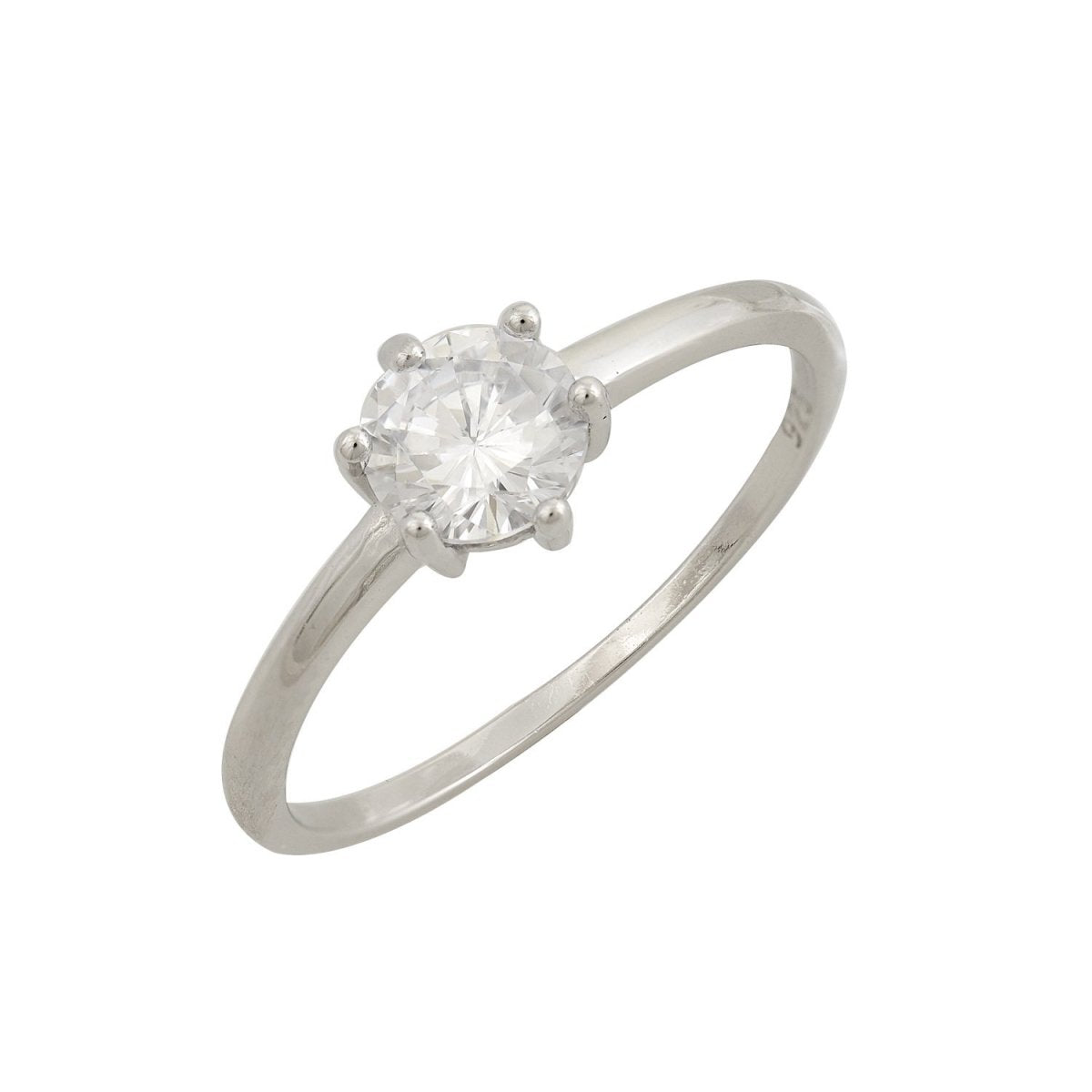 Single Stone Ring RS3543 Platinum Plating - Goldy Jewelry Store