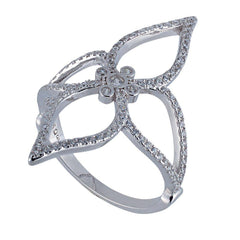 RS2842W Platinum Silver Ring with Zircon - Goldy Jewelry Store