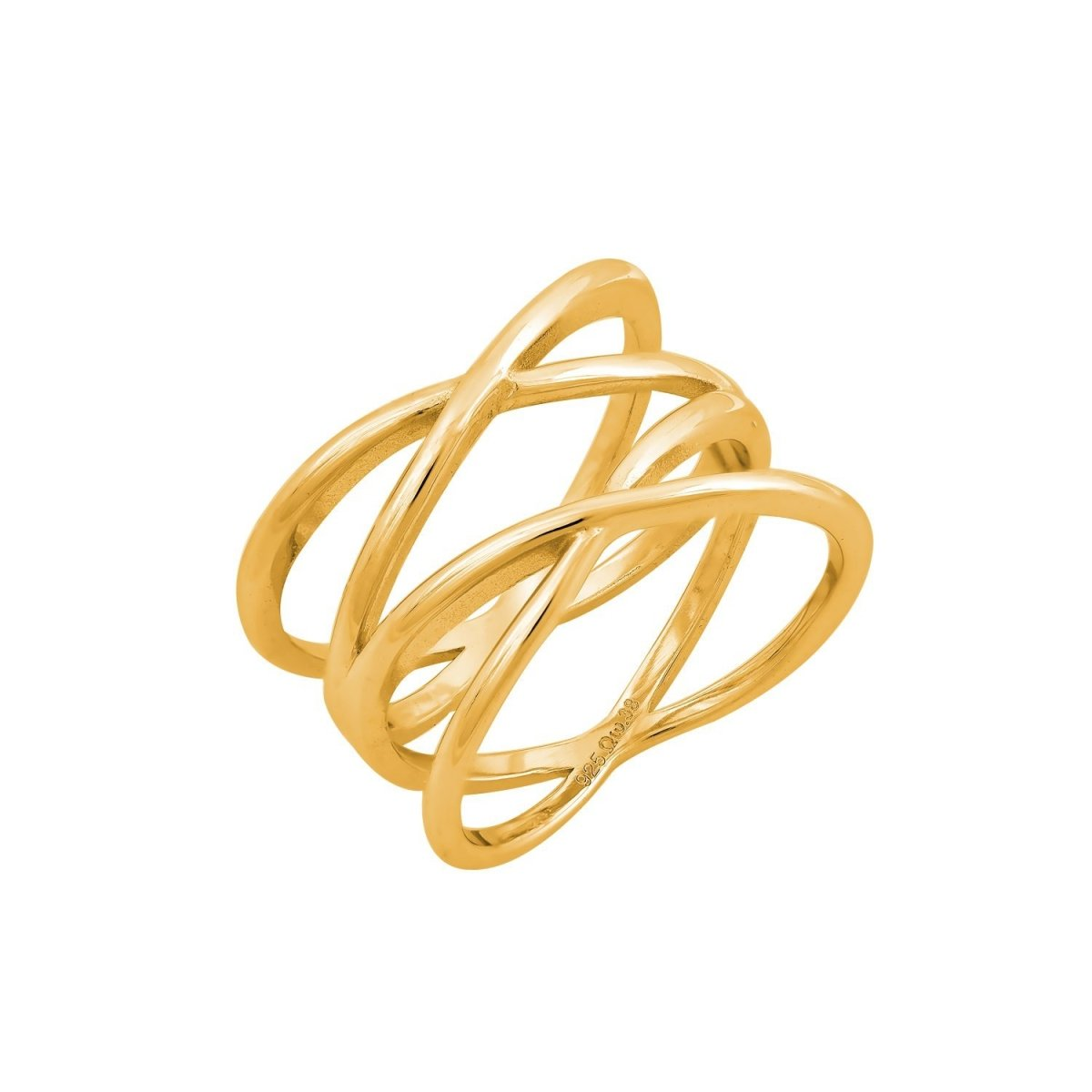 RS3411G Ring With Gold Plating - Goldy Jewelry Store