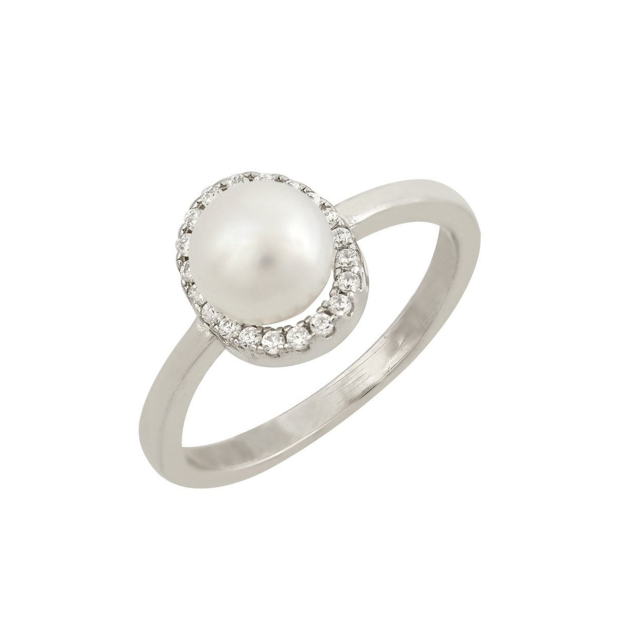 RS3465W Platinum Plating Ring - Goldy Jewelry Store