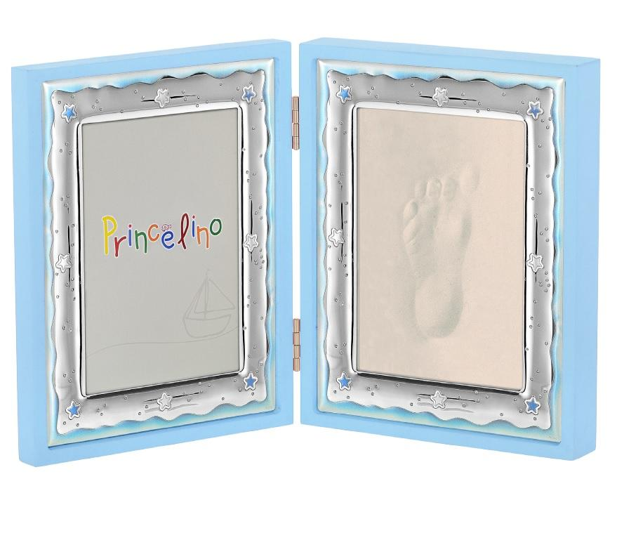 Double Children's Silver Frame MA / FP143-C 9cm x 13cm - Goldy Jewelry Store