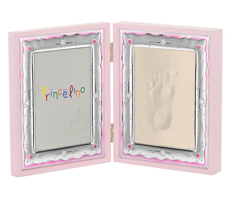 Double Children's Silver Frame MA / FP143-R 9cm x 13cm - Goldy Jewelry Store