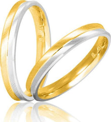 Bicolor Wedding Rings S1 Stergiadis - Goldy Jewelry Store