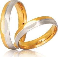 Bicolor Wedding Rings S10 Stergiadis - Goldy Jewelry Store