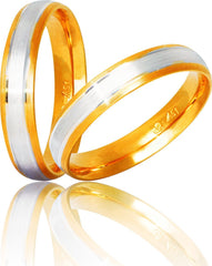 Bicolor Wedding Rings S11 Stergiadis - Goldy Jewelry Store