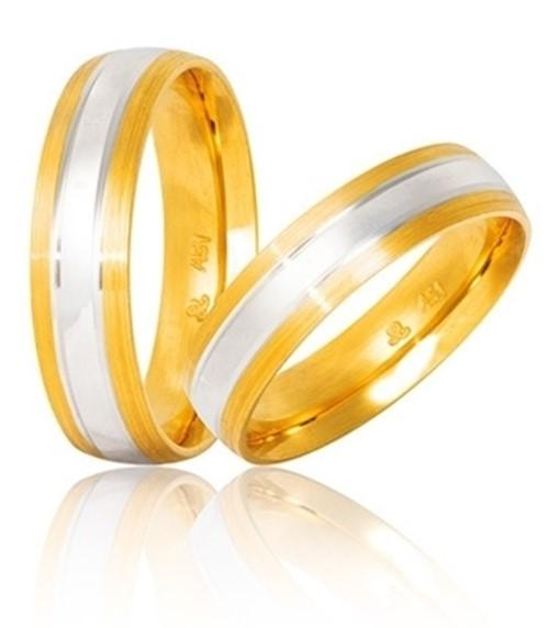 Bicolor Wedding Rings S14 Stergiadis - Goldy Jewelry Store