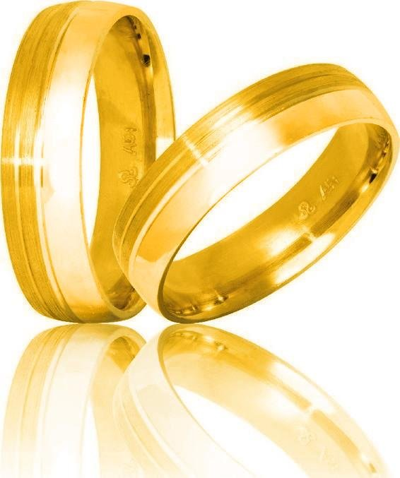 Bicolor Wedding Rings S44 Stergiadis - Goldy Jewelry Store