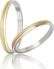 Bicolor Wedding Rings S47-1 Stergiadis - Goldy Jewelry Store