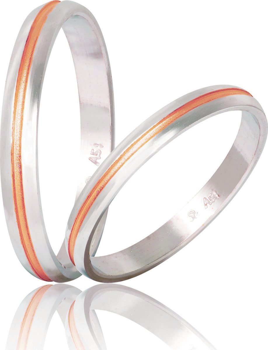 Bicolor Wedding Rings S48-1 Stergiadis - Goldy Jewelry Store