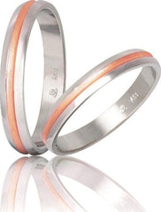 Bicolor Wedding Rings S49-1 Stergiadis - Goldy Jewelry Store