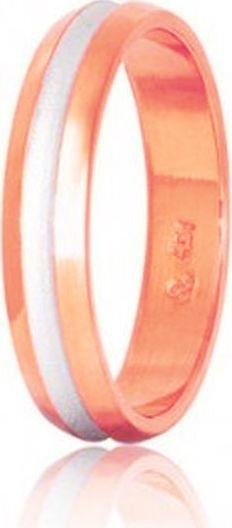 Bicolor Wedding Rings S50-2 Stergiadis - Goldy Jewelry Store