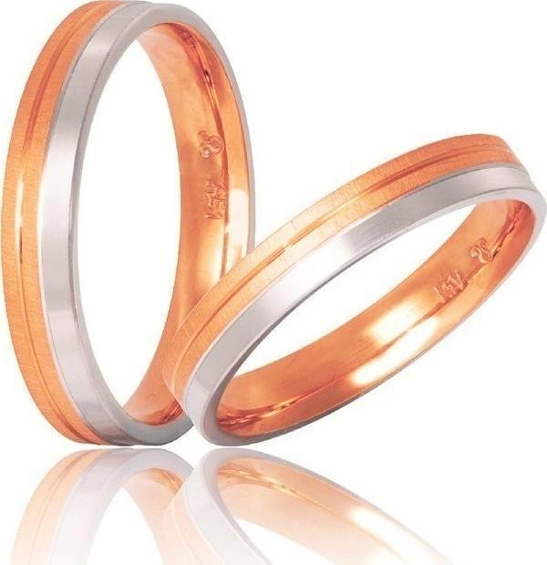 Bicolor Wedding Rings S7 Stergiadis - Goldy Jewelry Store