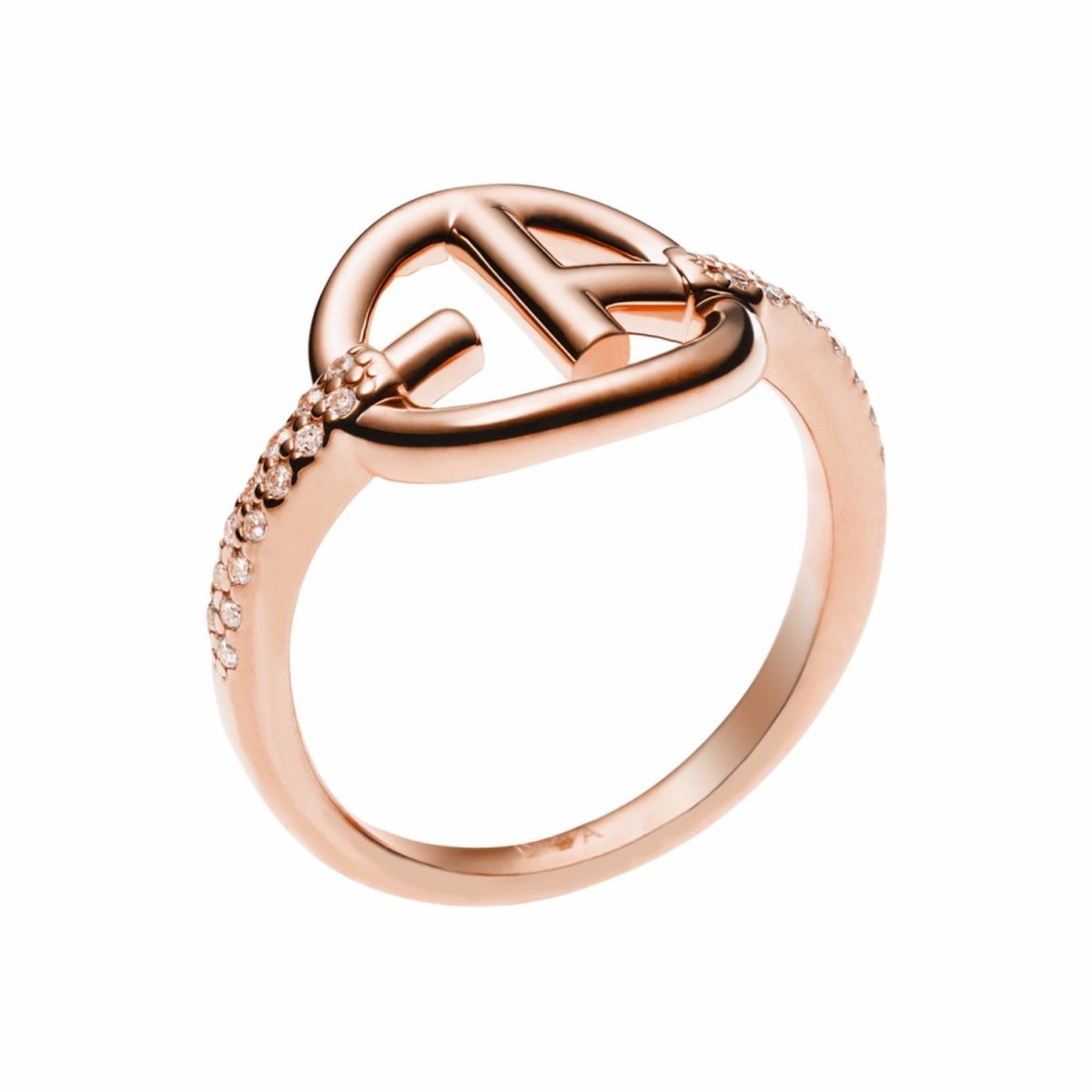 Emporio Armani EG3200221 Rose Gold Plated Silver Ring - Goldy Jewelry Store
