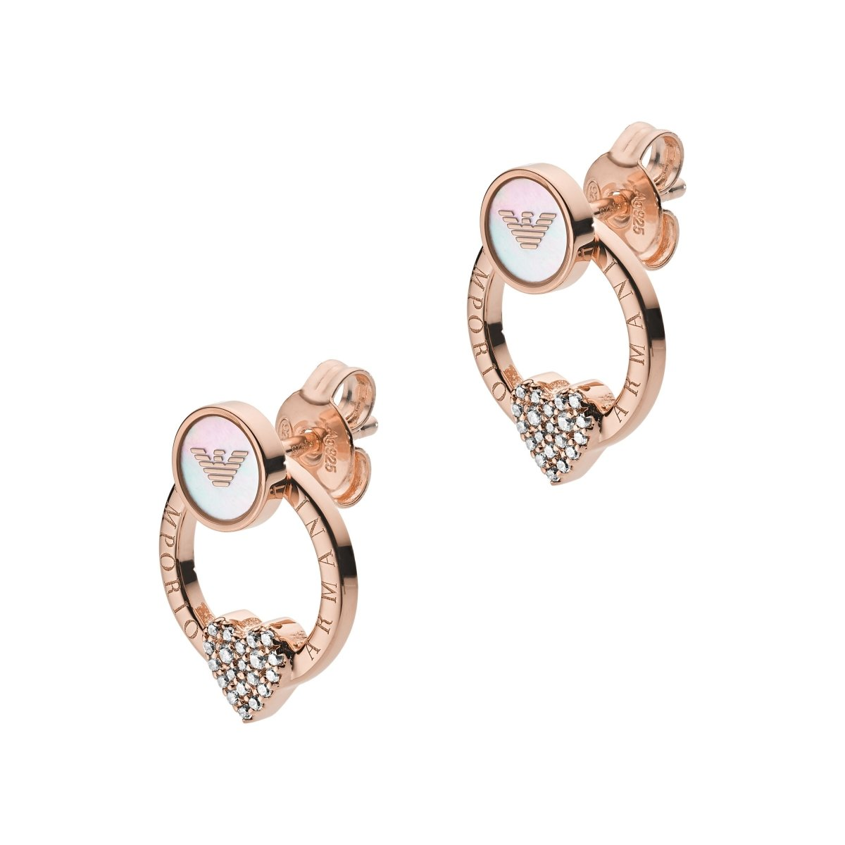 Emporio Armani EG3430221 Earrings with Rose Gold Plated Silver - Goldy Jewelry Store