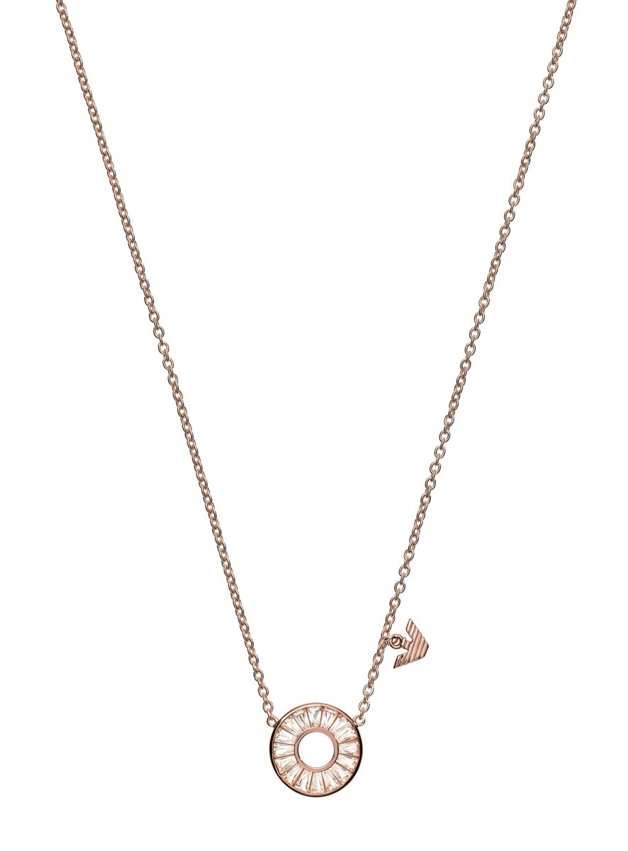 Emporio Armani EG3457221 Gold Plated Silver Necklace - Goldy Jewelry Store