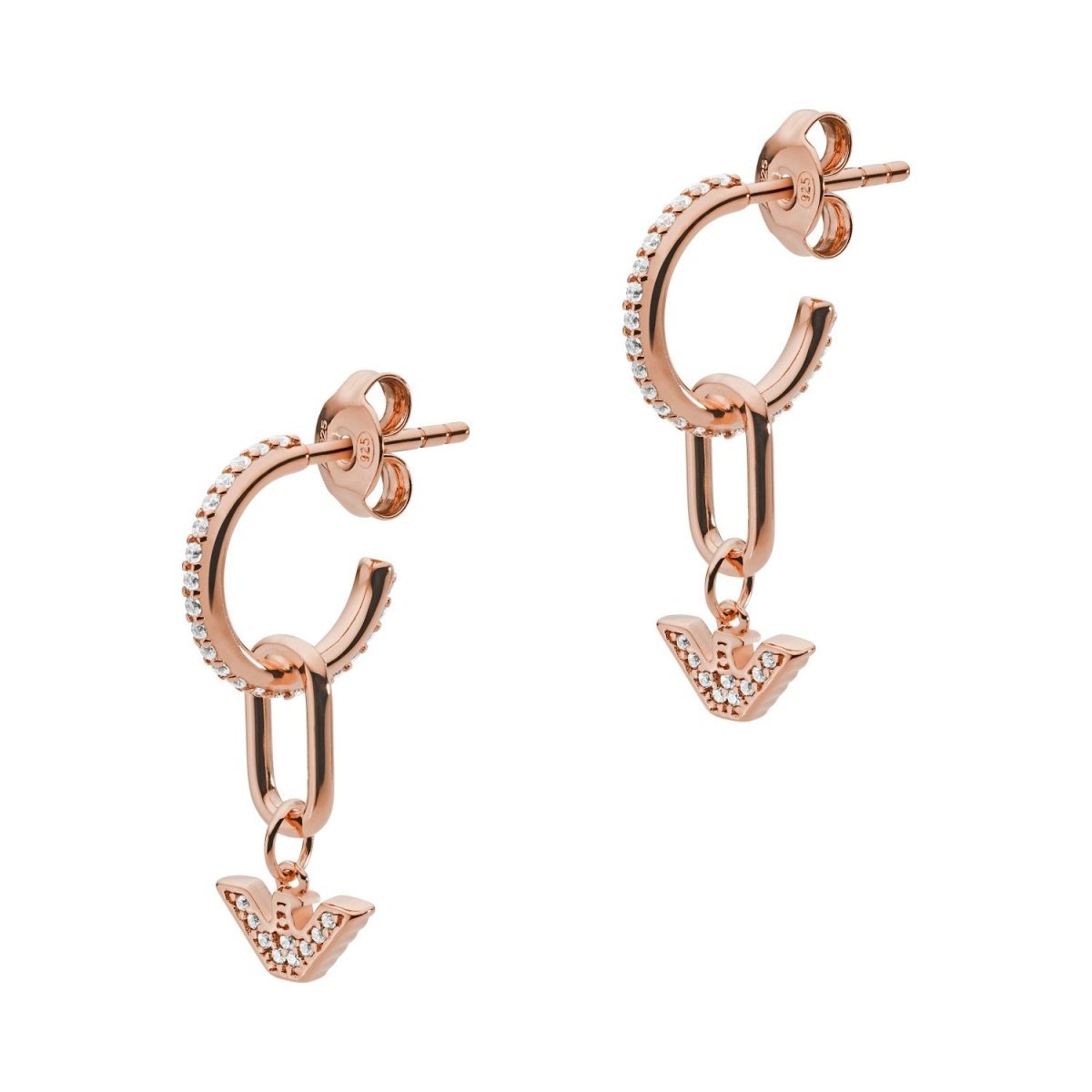Emporio Armani EG3461221 Pendant Earrings With Rose Gold Plated Silver - Goldy Jewelry Store