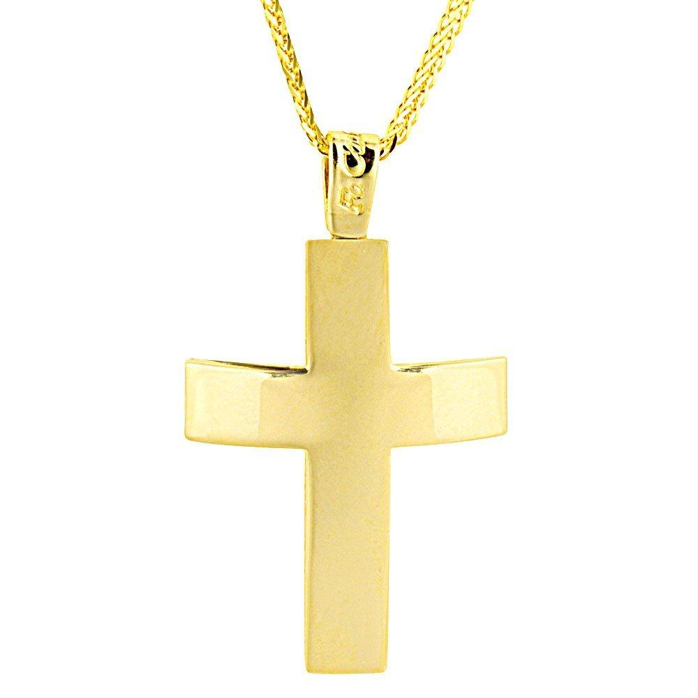 Facad'oro CR-R22 14ct Gold Baptismal Cross - Goldy Jewelry Store