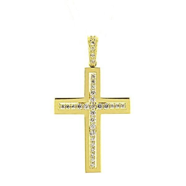 Facad'oro STA485 14ct Gold Baptism Cross - Goldy Jewelry Store