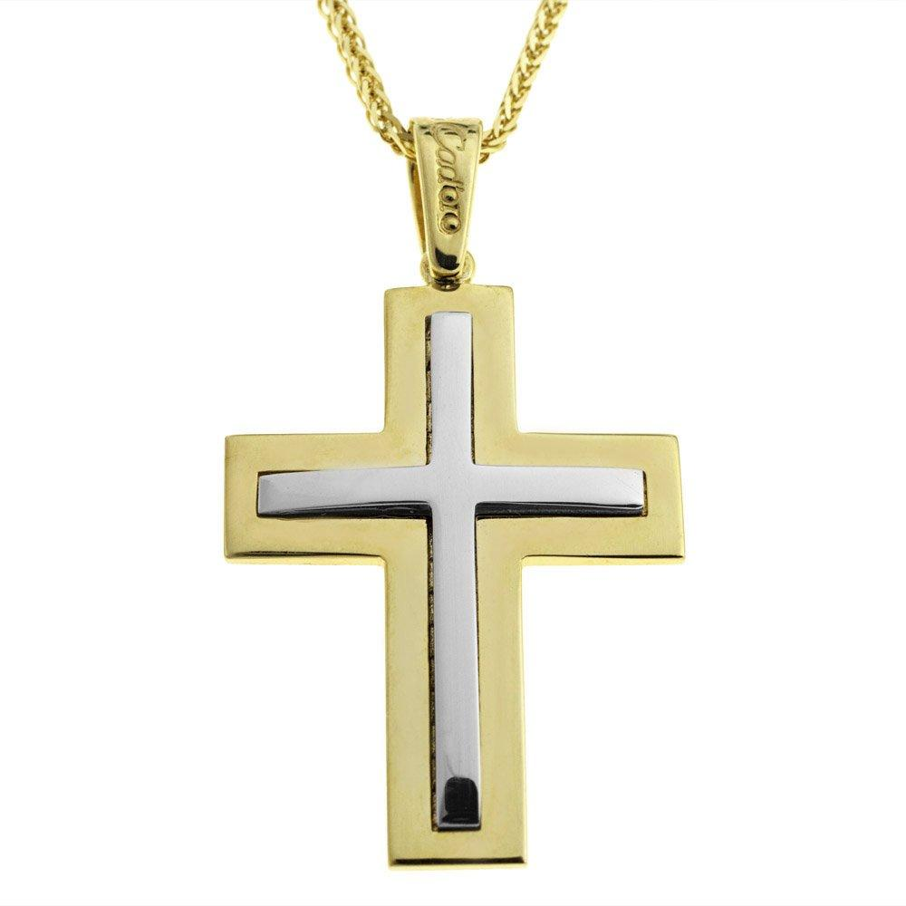 Facad'oro STA547-1 14ct Gold Baptismal Cross - Goldy Jewelry Store