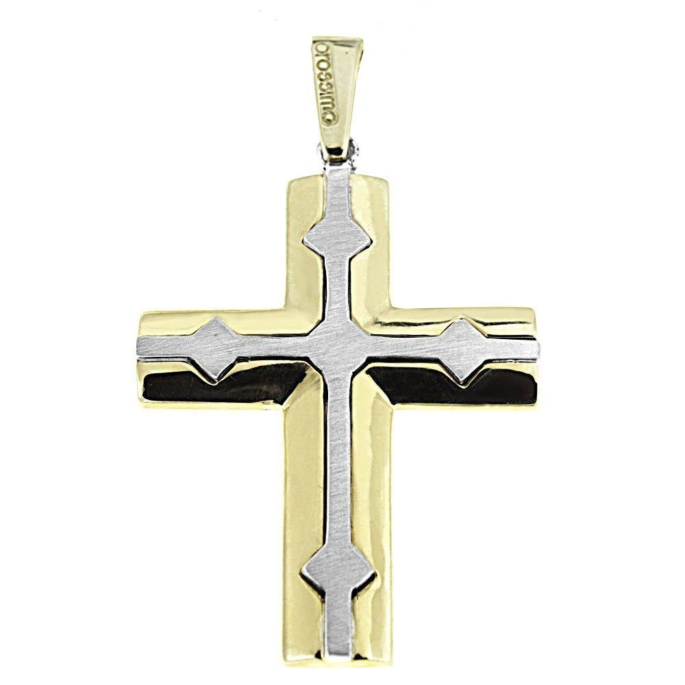 Facad'oro STA595 9ct Gold Baptismal Cross - Goldy Jewelry Store