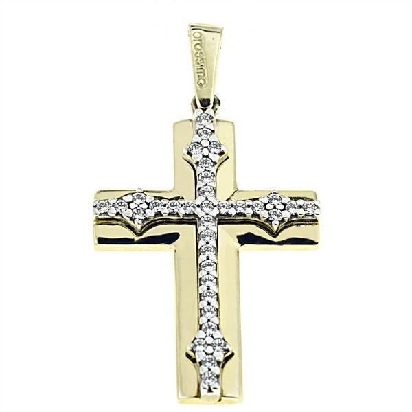 Facad'oro STA631 9ct Gold Baptismal Cross - Goldy Jewelry Store