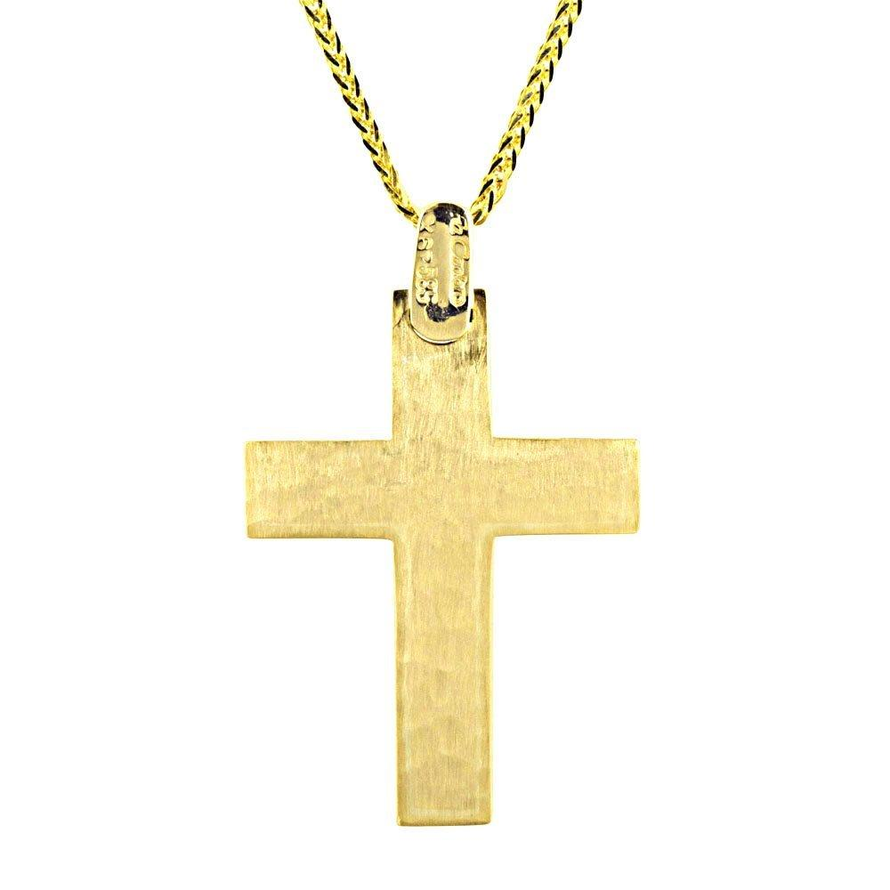 Facad'oro STA648 14ct Gold Baptism Cross - Goldy Jewelry Store