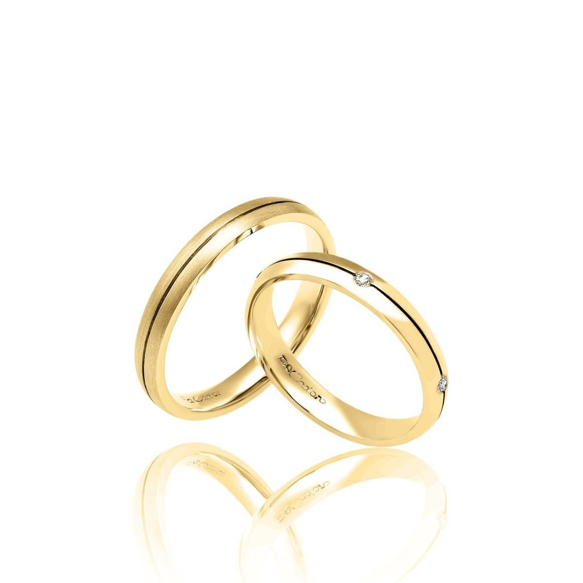 FaCad'oro WR-08 9ct and 14ct Gold Wedding Rings - Goldy Jewelry Store