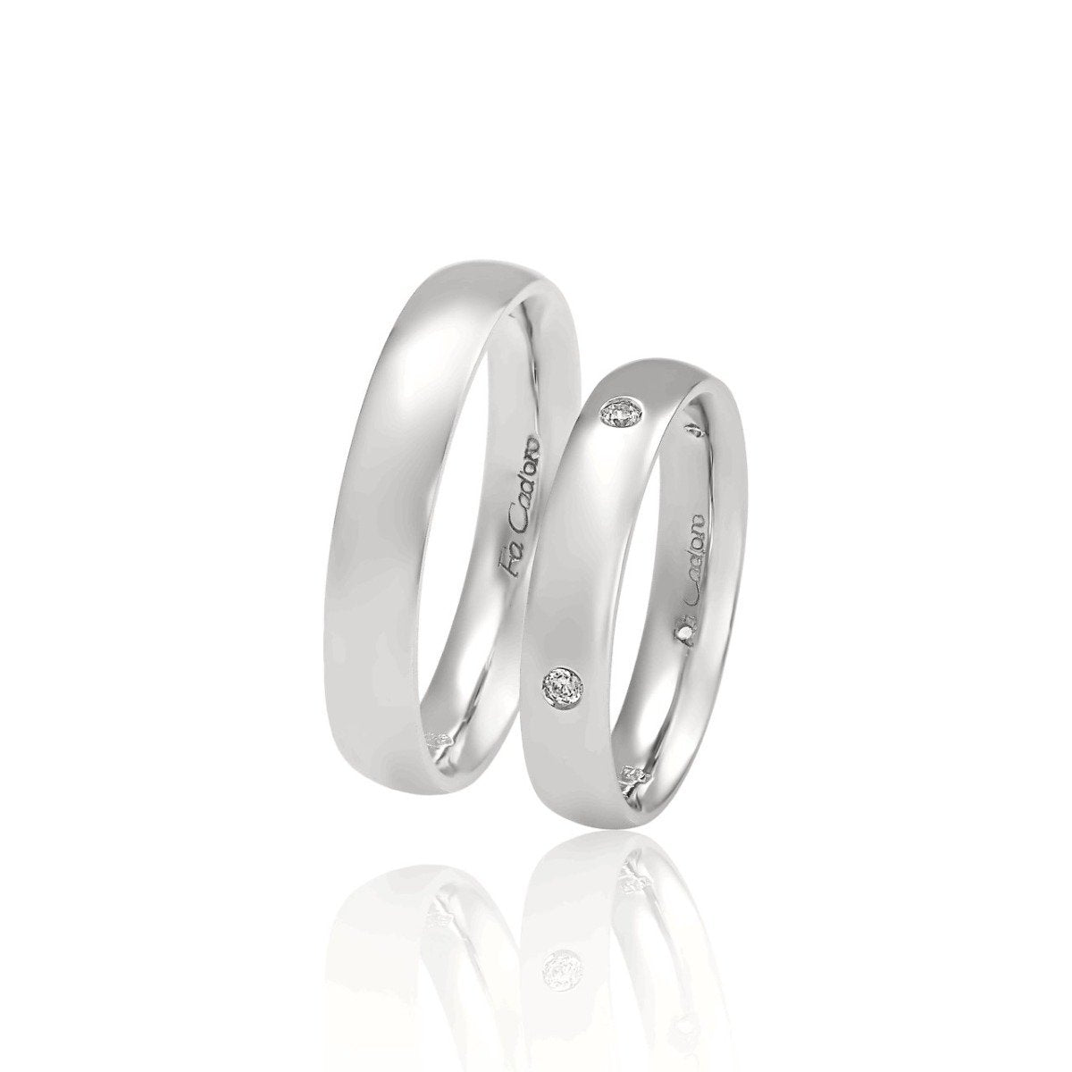 FaCad'oro WR-13 9ct and 14ct Gold Wedding Rings - Goldy Jewelry Store