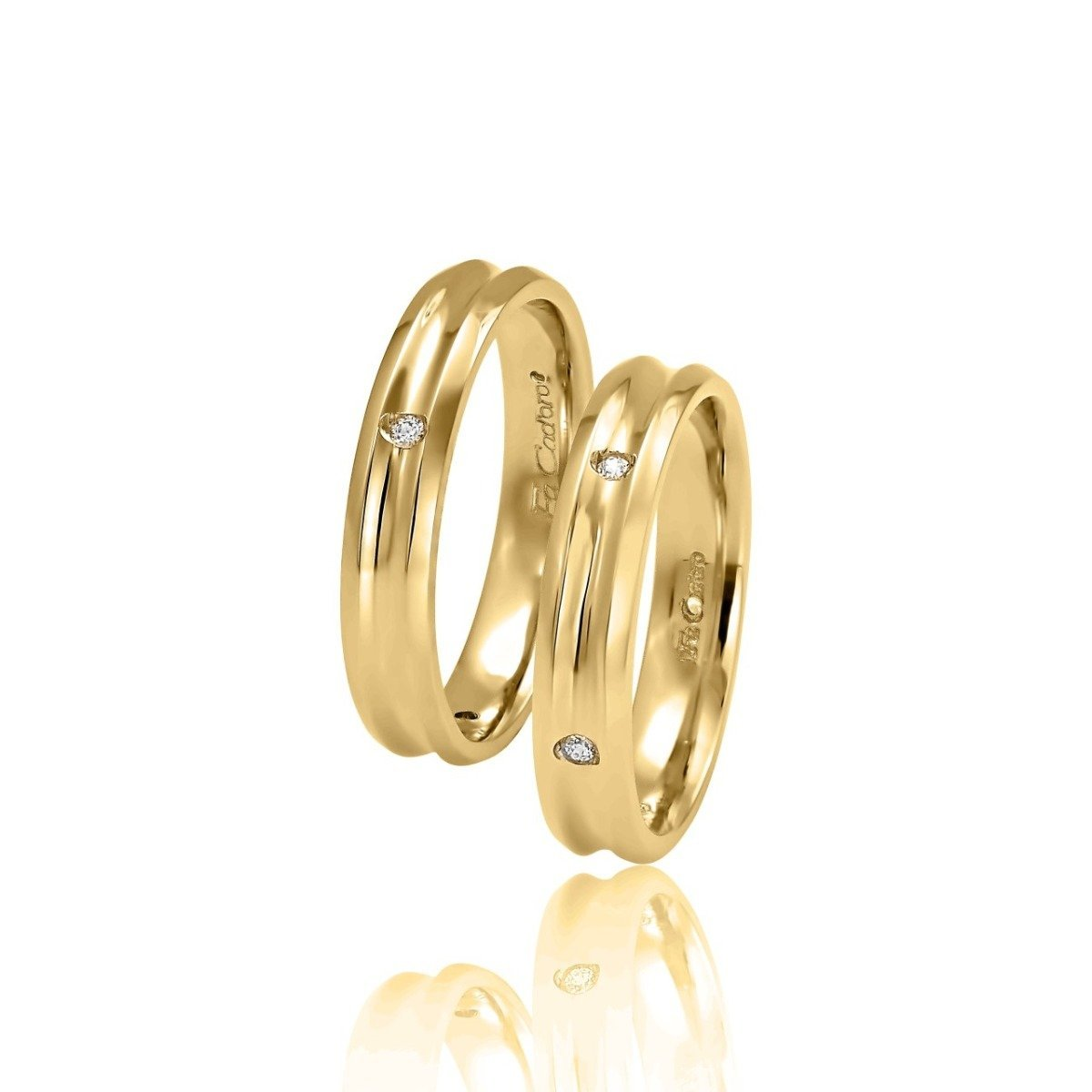 FaCad'oro WR-15 9ct and 14ct Gold Wedding Rings - Goldy Jewelry Store
