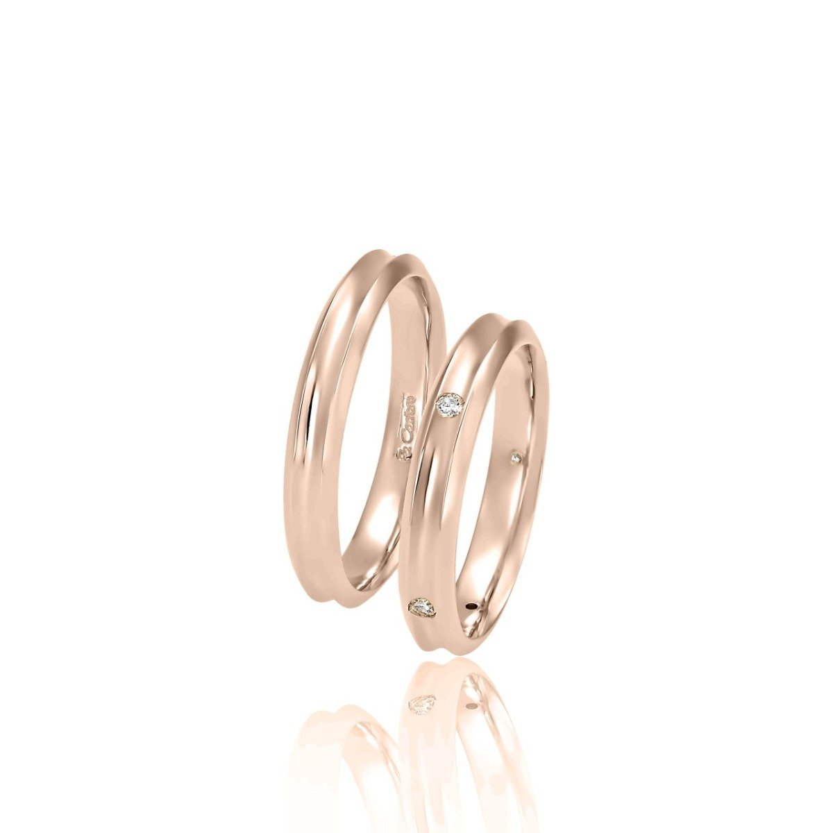 FaCad'oro WR-16 9ct and 14ct Gold Wedding Rings - Goldy Jewelry Store