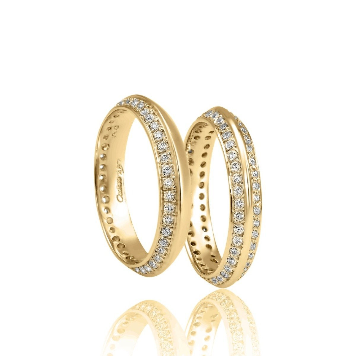 FaCad'oro WR-17PB2 14ct Gold Wedding Ring - Goldy Jewelry Store