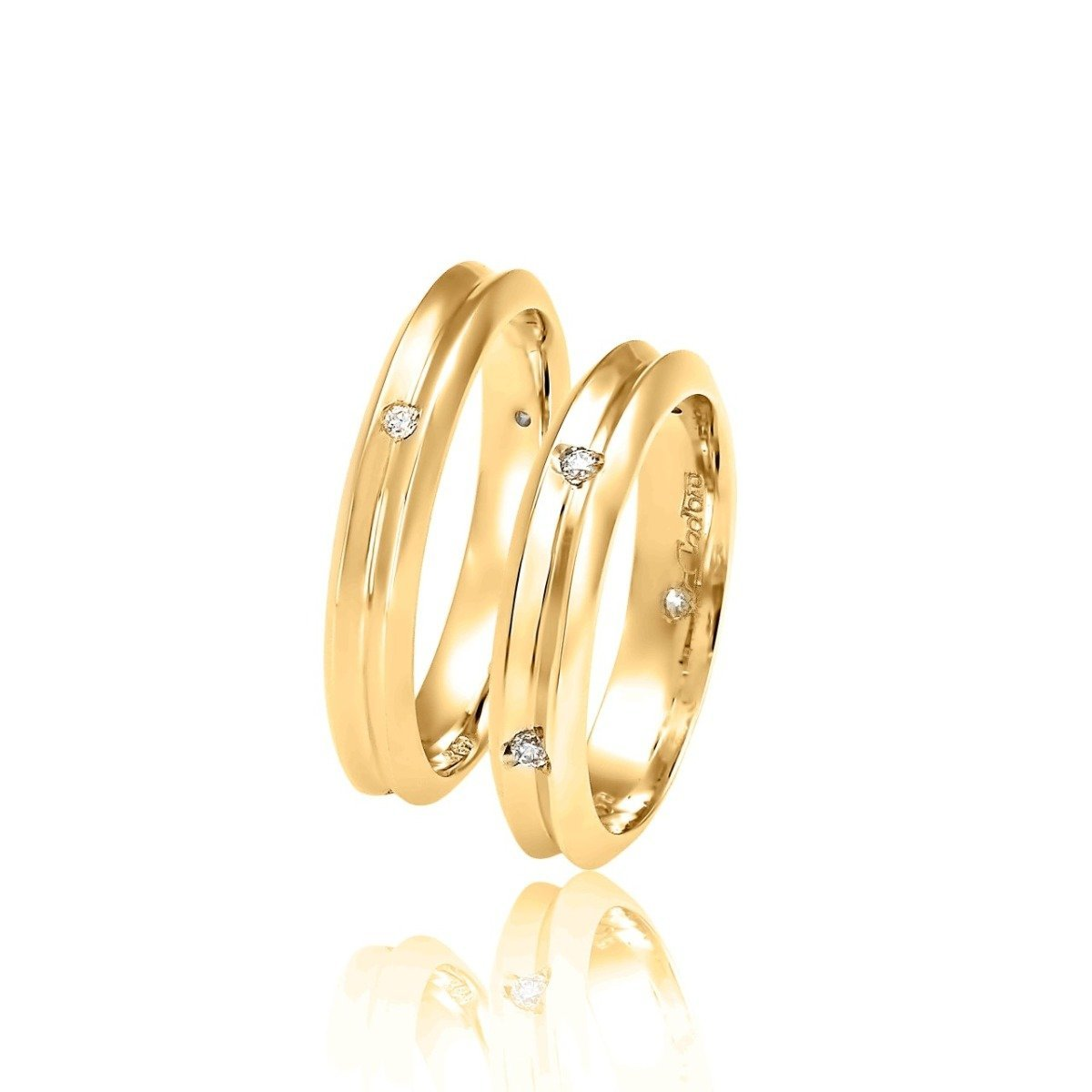 FaCad'oro WR-18 Gold Wedding Ring 9ct or 14ct - Goldy Jewelry