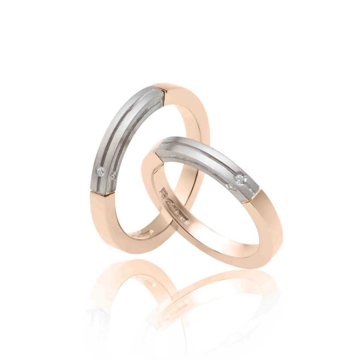 FaCad'oro WR-23 14ct Gold Wedding Rings - Goldy Jewelry Store