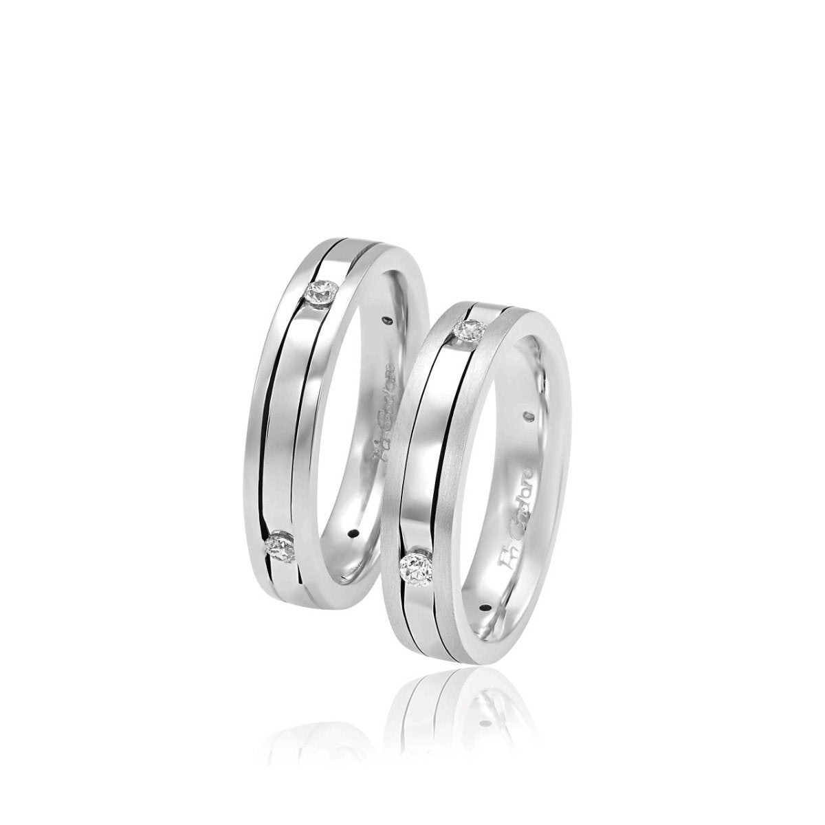 FaCad'oro WR-24 14ct Gold Wedding Rings - Goldy Jewelry Store