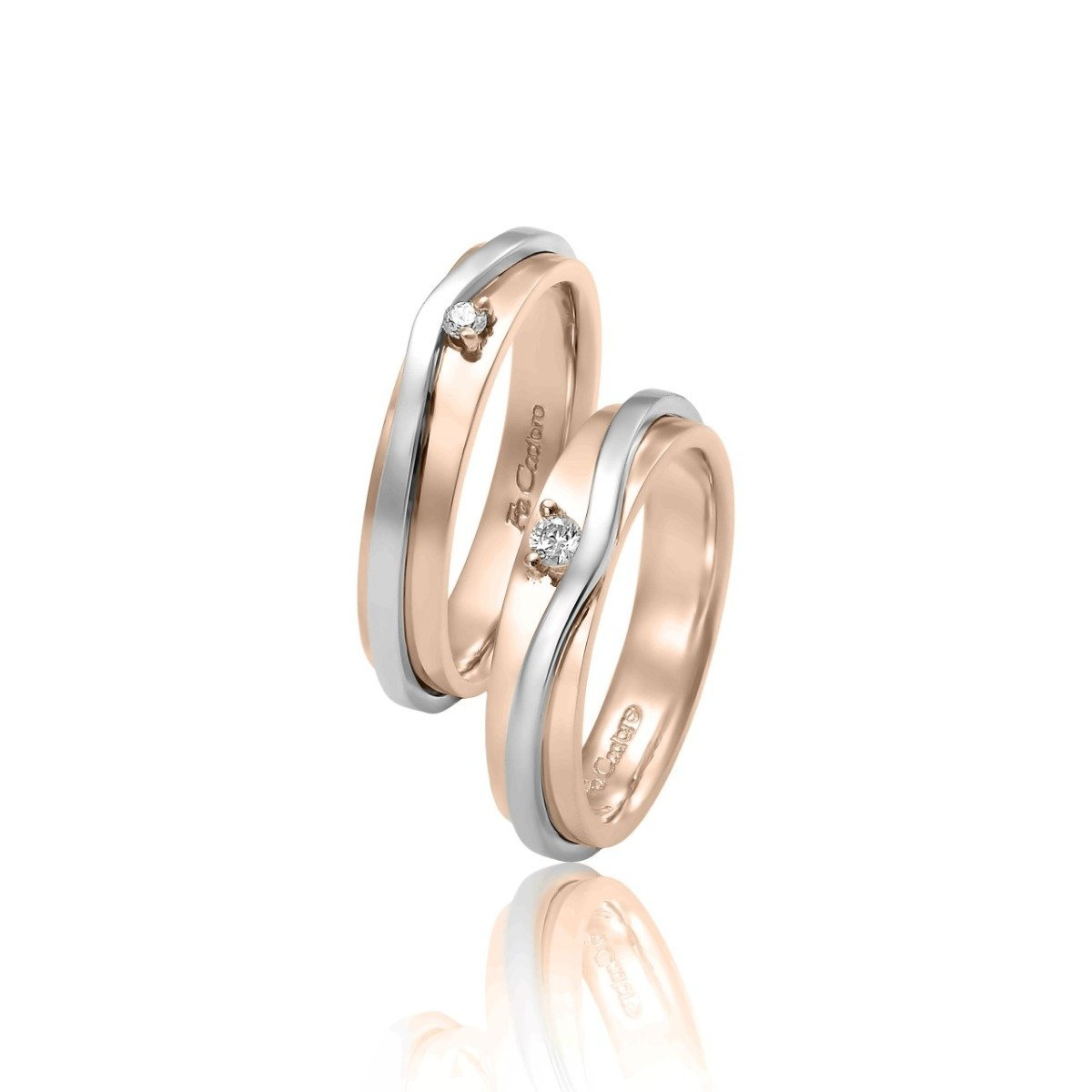 FaCad'oro WR-30 14ct Gold Wedding Rings - Goldy Jewelry Store