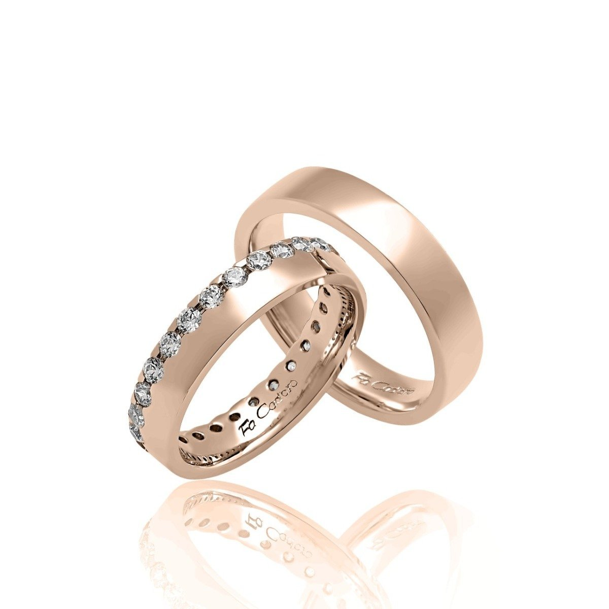 FaCad'oro WR-31 14ct Gold Wedding Rings - Goldy Jewelry Store