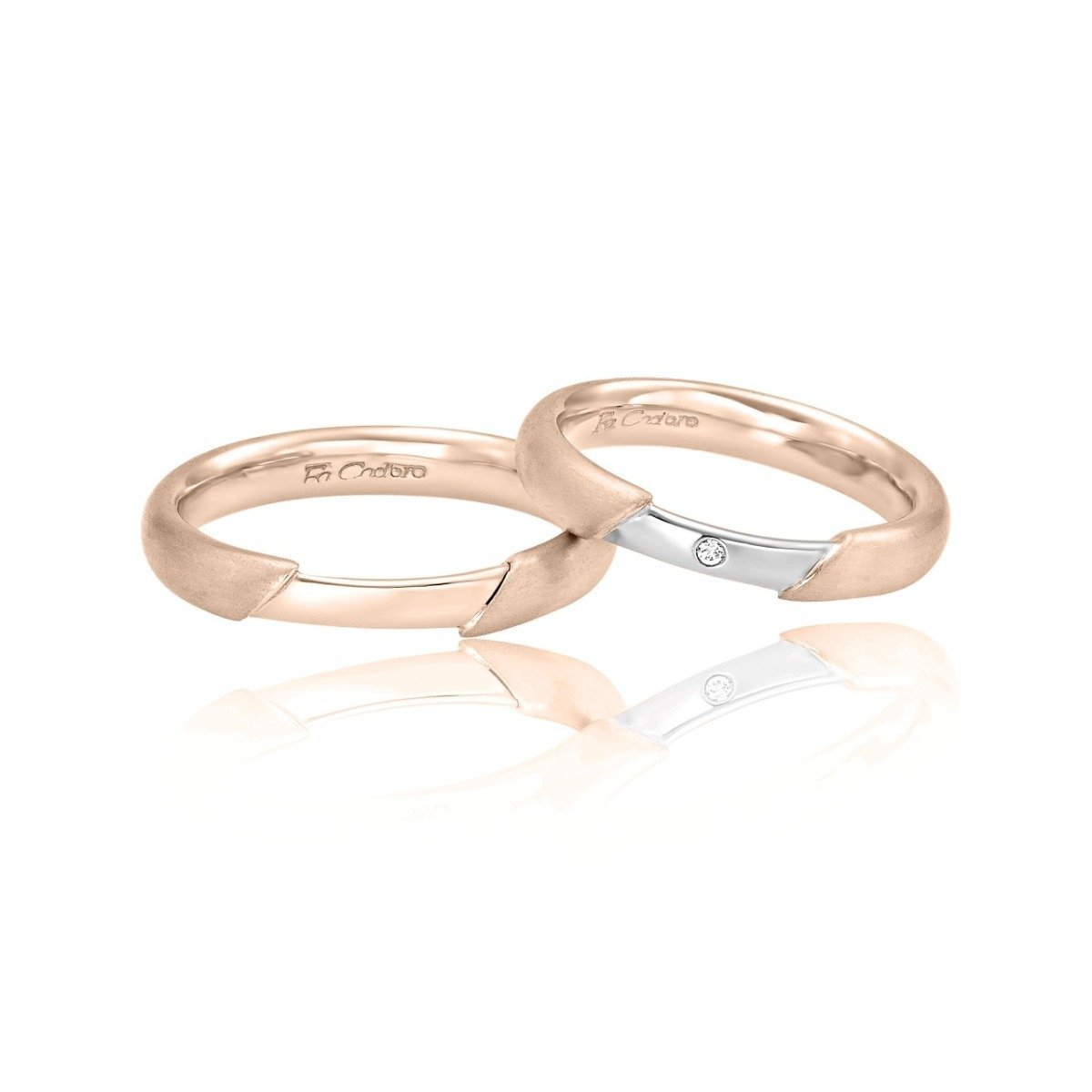 FaCad'oro WR-32 14ct Gold Wedding Rings - Goldy Jewelry Store