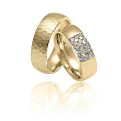FaCad'oro WR-34 14ct Gold Wedding Rings - Goldy Jewelry Store